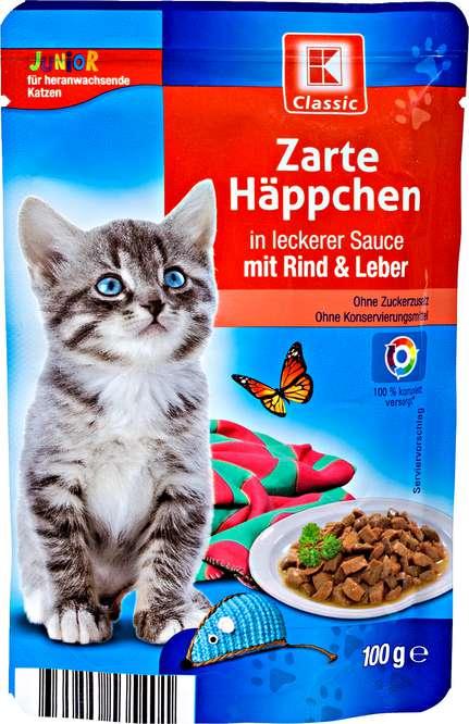 Abbildung des Sortimentsartikels K-Classic Zarte Häppchen mit Rind & Leber 100g