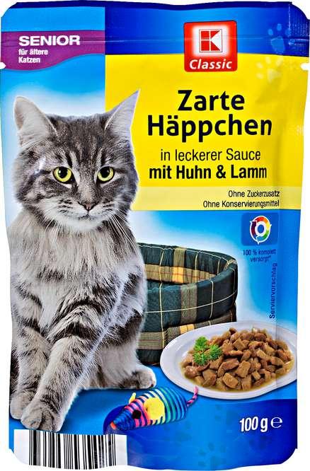 Abbildung des Sortimentsartikels K-Classic Zarte Häppchen in leckerer Sauce mit Huhn & Lamm