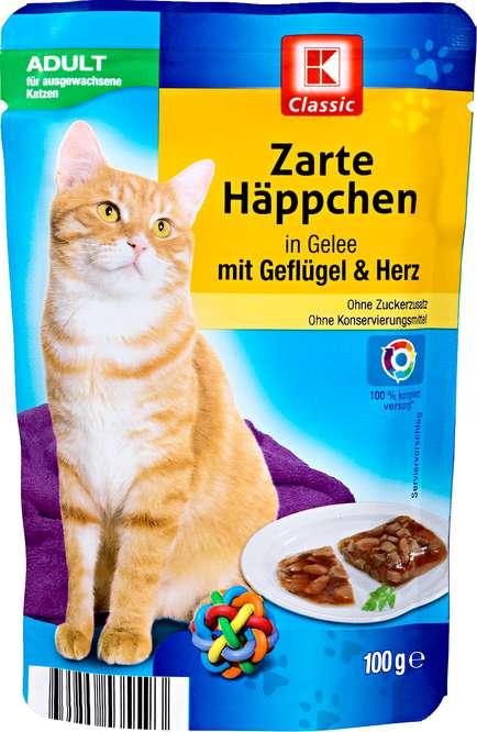 Abbildung des Sortimentsartikels K-Classic Zarte Häppchen in Gelee mit Geflügel & Herz 100g