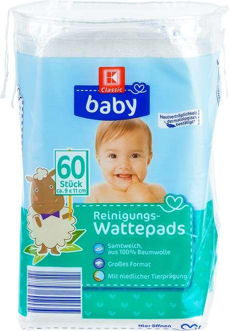 Abbildung des Sortimentsartikels K-Classic Baby Reinigungs-Wattepads 60 Stück