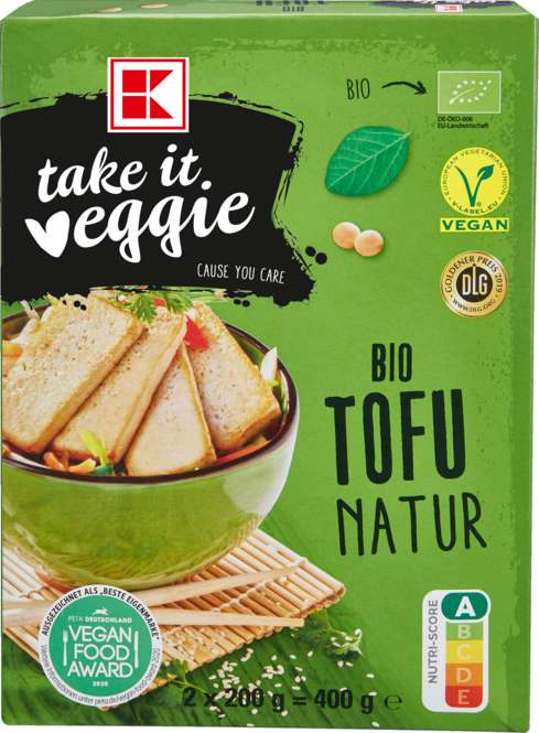 Abbildung des Sortimentsartikels K-Take it Veggie Bio Tofu Natur 2x200g