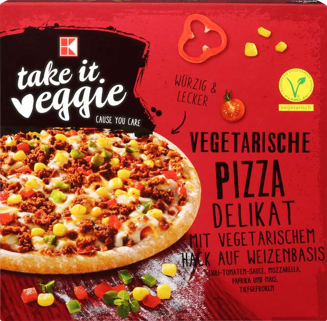 Abbildung des Sortimentsartikels K-Take it Veggie Vegetarische Pizza Delikat 380g