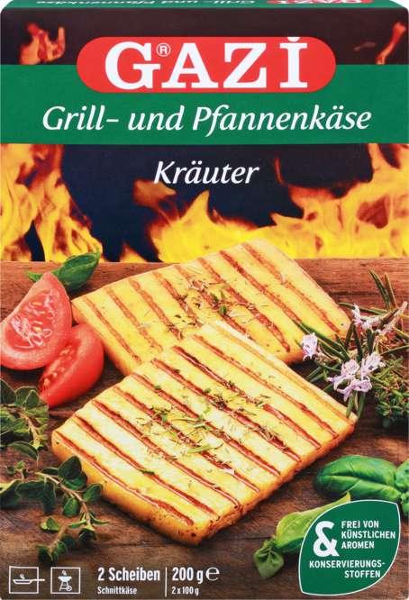Abbildung des Sortimentsartikels Gazi Grill- und Pfannenkäse mediterrane Kräuter 200g