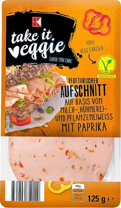 Abbildung des Sortimentsartikels K-Take it Veggie Aufschnitt mit Paprika 125g