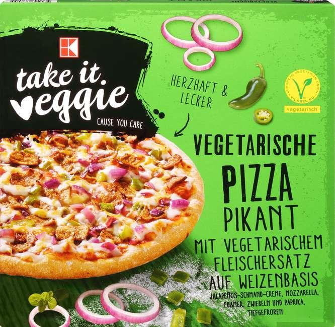 Abbildung des Sortimentsartikels K-Take it Veggie Vegetarische Pizza Pikant 380g