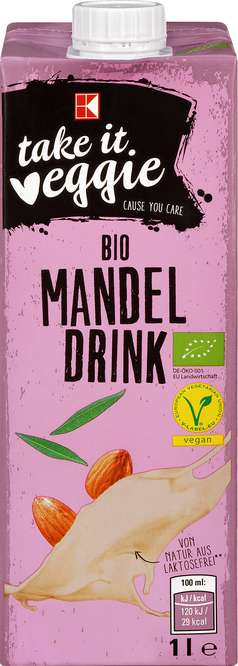 Abbildung des Sortimentsartikels K-Take it Veggie Bio Mandel Drink 1l
