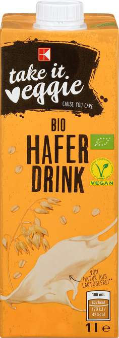 Abbildung des Sortimentsartikels K-Take it Veggie Bio Hafer Drink 1l