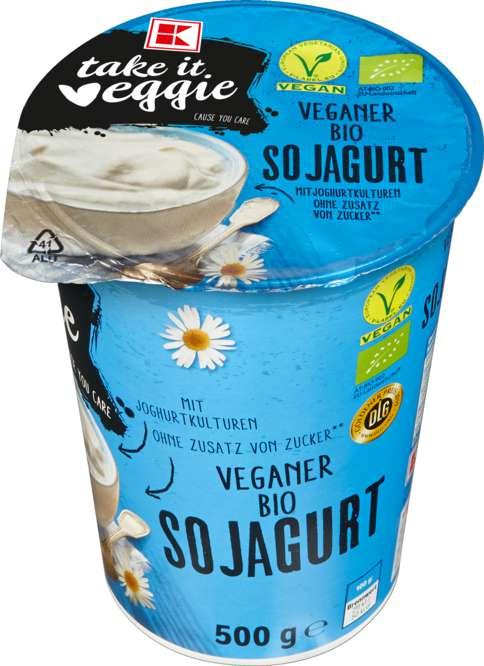 Abbildung des Sortimentsartikels K-Take it Veggie Veganer Bio Sojagurt Natur 500g