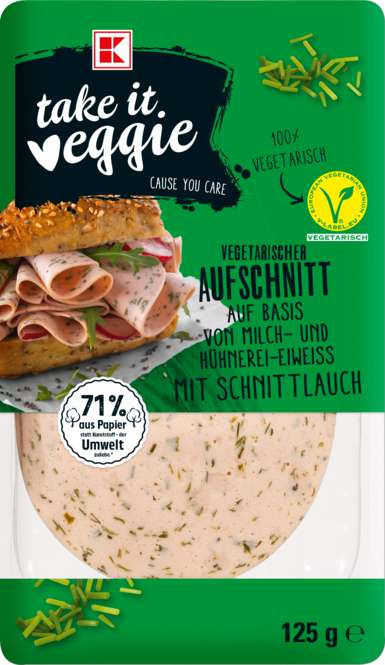 Abbildung des Sortimentsartikels K-Take it Veggie Vegetarischer Aufschnitt mit Schnittlauch 125g