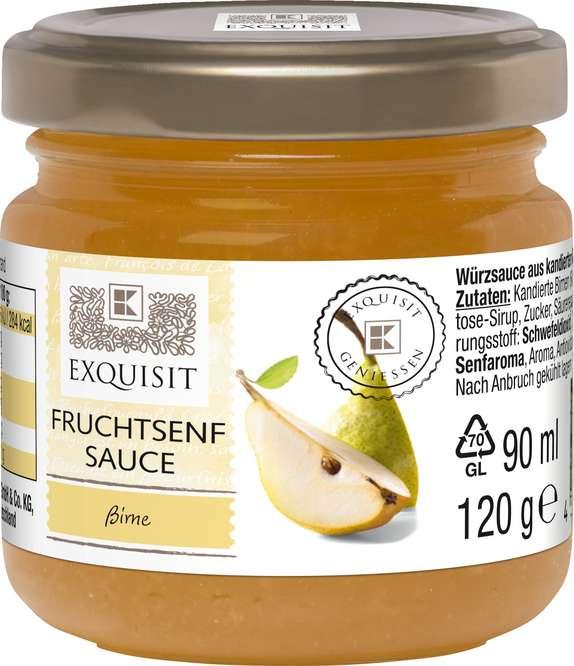 Abbildung des Sortimentsartikels Exquisit Fruchtsenf Sauce Birne 120g