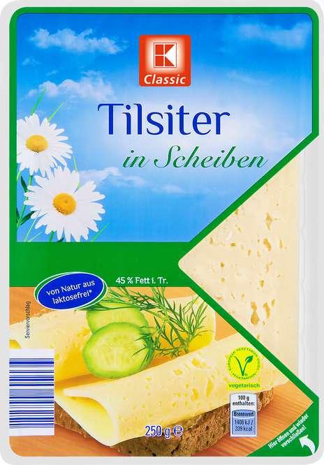 Abbildung des Sortimentsartikels K-Classic Tilsiter in Scheiben 250g