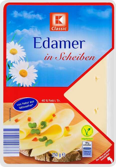 Abbildung des Sortimentsartikels K-Classic Edamer in Scheiben 250g
