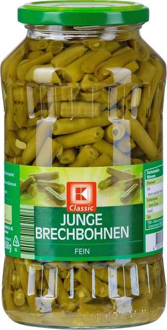 Abbildung des Sortimentsartikels K-Classic Junge Brechbohnen, fein 720ml
