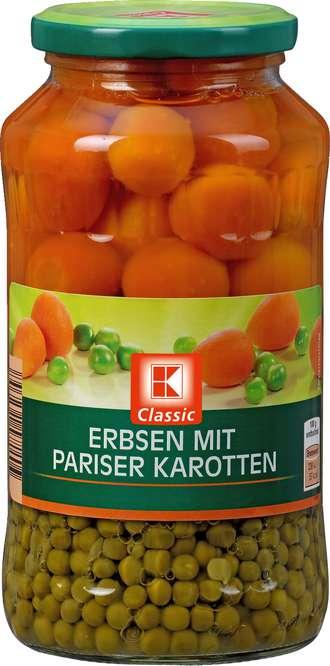 Abbildung des Sortimentsartikels K-Classic Erbsen mit Pariser Karotten 720ml