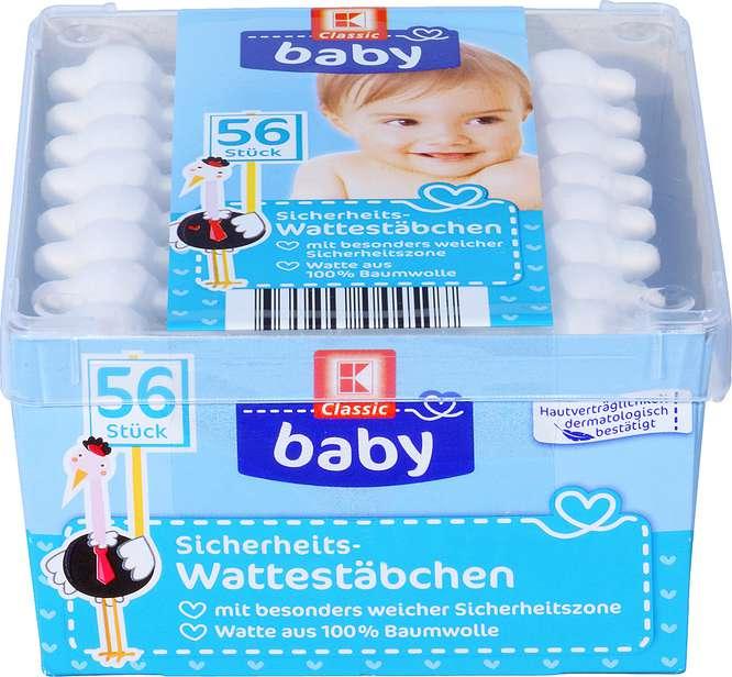 Abbildung des Sortimentsartikels K-Classic Baby Sicherheits-Wattestäbchen 56 Stück