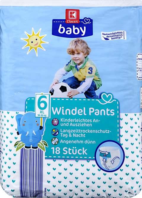 Abbildung des Sortimentsartikels K-Classic Baby Windeln XL 18 Stück