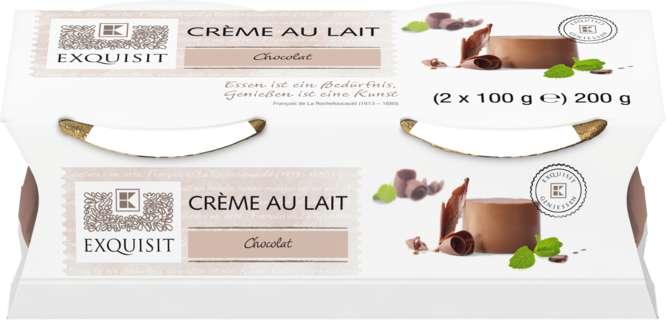 Abbildung des Sortimentsartikels Exquisit Crème au Lait Chocolat 2x100g