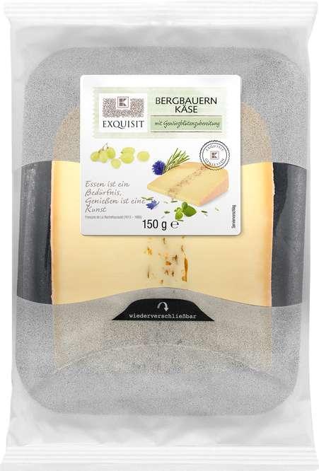 Abbildung des Sortimentsartikels E Bergbauern Käse mit Gewürzblütenzubereitung 150g