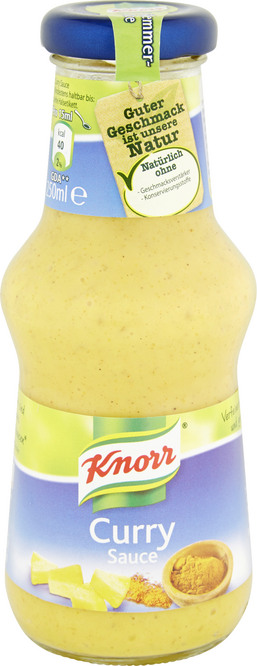 Abbildung des Sortimentsartikels Knorr Curry Sauce 250ml