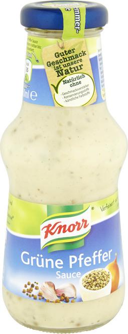 Abbildung des Sortimentsartikels Knorr Grüne Pfeffer Sauce 250ml