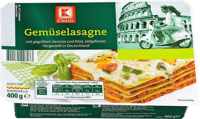 Abbildung des Sortimentsartikels K-Classic Gemüse-Lasagne 400g