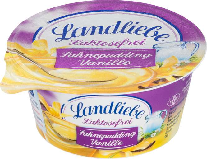 Abbildung des Sortimentsartikels Landliebe Sahnepudding Vanille laktosefrei 150g