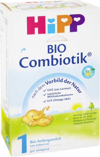 Abbildung des Sortimentsartikels Hipp Bio-Säuglingsmilchnahrung 600g