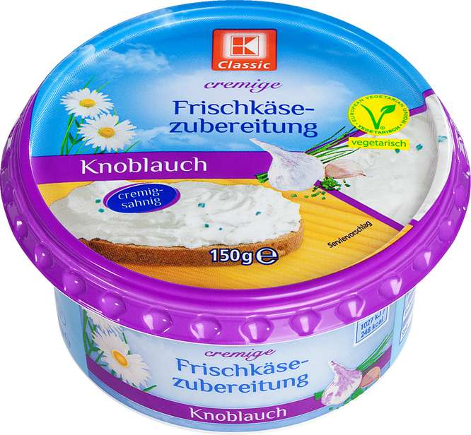 Abbildung des Sortimentsartikels K-Classic Frischkäsezubereitung Knoblauch 150g