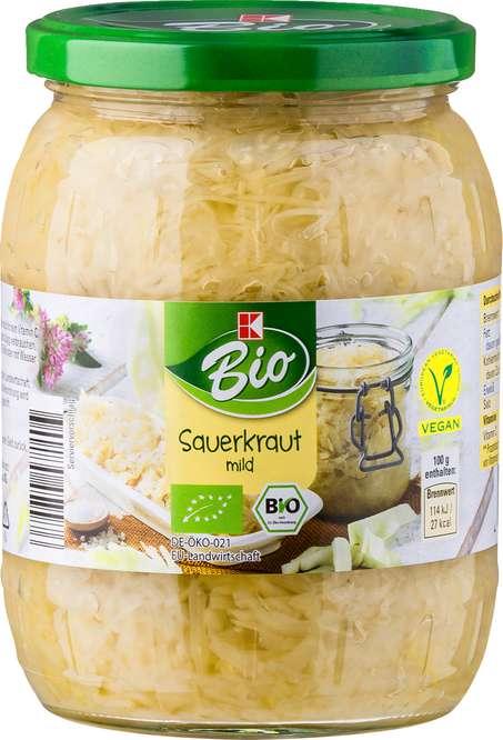 Abbildung des Sortimentsartikels K-Bio Sauerkraut 720ml