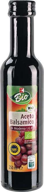 Abbildung des Sortimentsartikels K-Bio Aceto Balsamico di Modena I. G. P. 250ml