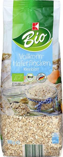 Abbildung des Sortimentsartikels K-Bio Vollkorn-Haferflocken Kleinblatt 500g