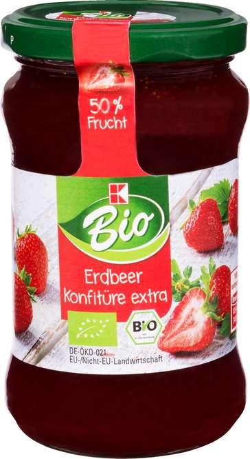 Abbildung des Sortimentsartikels K-Bio Erdbeer Konfitüre Extra 340g
