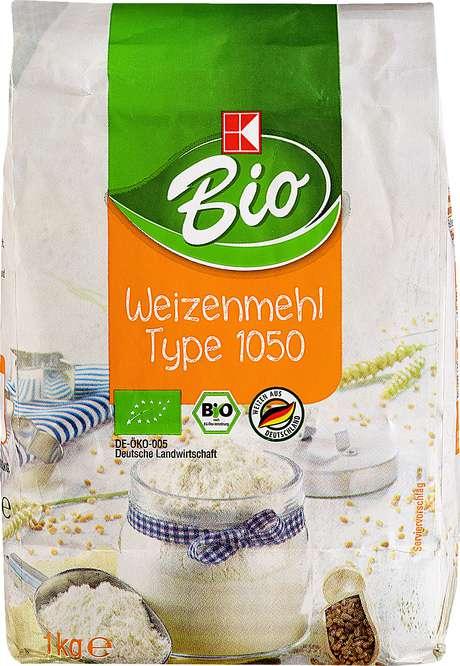 Abbildung des Sortimentsartikels K-Bio Weizenmehl Type 1050 1kg