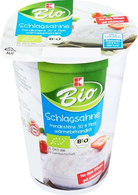 Abbildung des Sortimentsartikels K-Bio Schlagsahne 200g