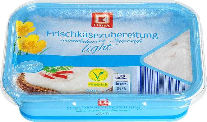 Abbildung des Sortimentsartikels K-Classic Frischkäsezubereitung natur light 200g
