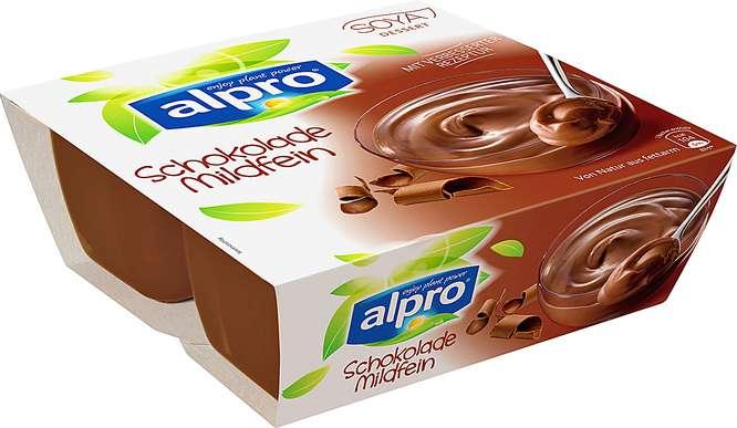 Abbildung des Sortimentsartikels Alpro Soya Dessert Schokolade Mildfein 4x125g