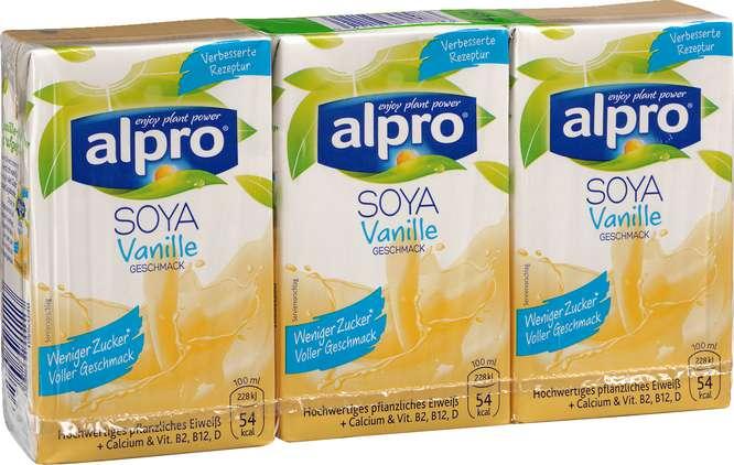 Abbildung des Sortimentsartikels Alpro Soja-Drink Vanille 3x250ml