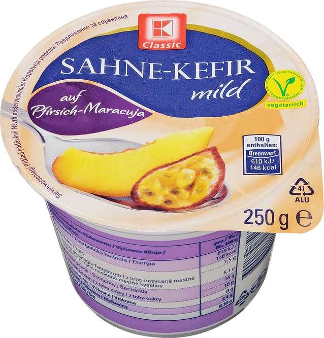 Abbildung des Sortimentsartikels K-Classic Sahne-Kefir auf Pfirsich-Maracuja 250g