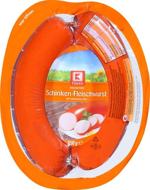 Abbildung des Sortimentsartikels C Delikatess Schinkenfleischwurst  650g