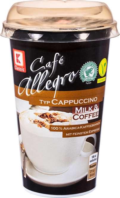 Abbildung des Sortimentsartikels K-Classic Café Allegro Cappucchino 250ml