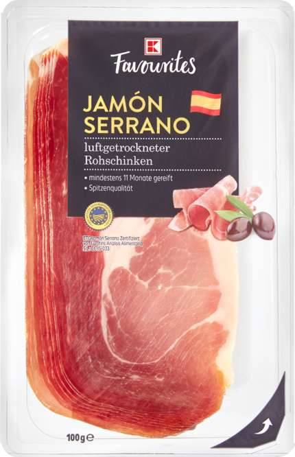 Abbildung des Sortimentsartikels K-Classic Jamón Serrano 100g