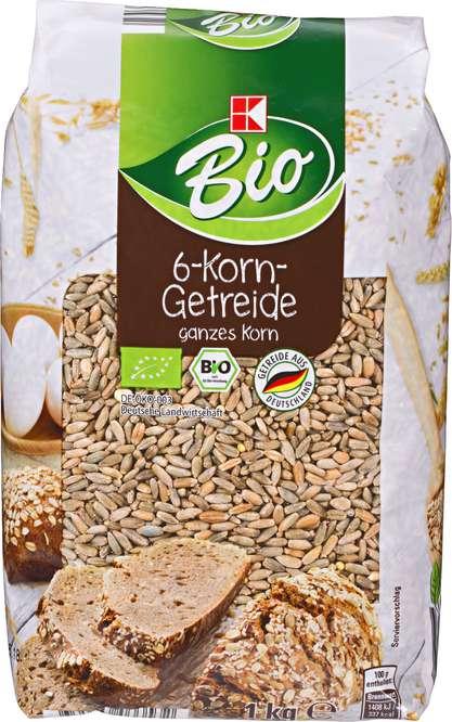 Abbildung des Sortimentsartikels K-Bio 6-Korn-Getreide ganzes Korn 1kg