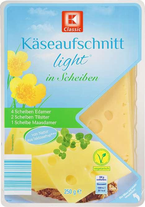 Abbildung des Sortimentsartikels K-Classic Käseaufschnitt light in Scheiben 250g