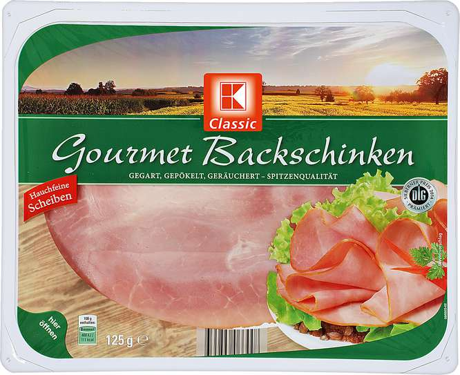 Abbildung des Sortimentsartikels C Gourmet Backschinken 125g