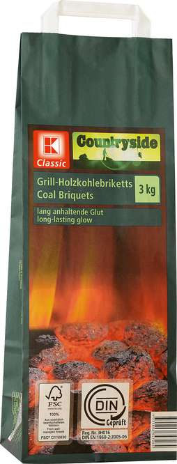 Abbildung des Sortimentsartikels K-Classic Grill-Holzkohlebriketts 3kg