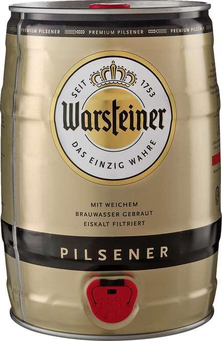 Abbildung des Sortimentsartikels Warsteiner Premium Pilsener Fass 5l