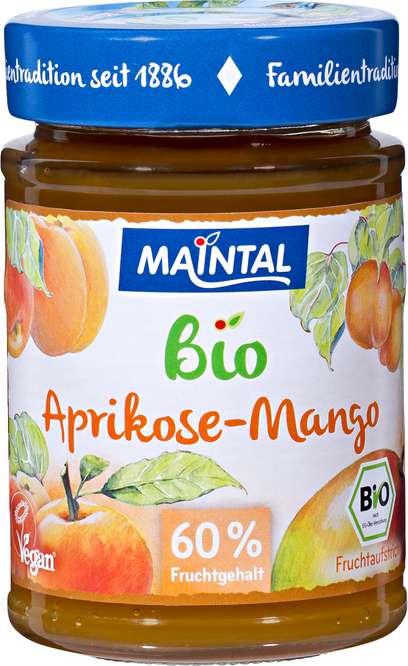 Abbildung des Sortimentsartikels Maintal Bio Fruchtaufstrich Aprikose-Mango 210g
