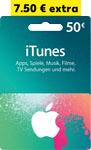 Abbildung des Angebots 50-Euro-iTunes- Geschenkkarte