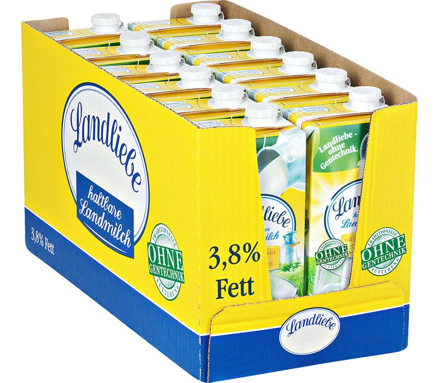 Abbildung des Angebots Ein ganzer Karton Landliebe haltbare Landmilch 3,8 %