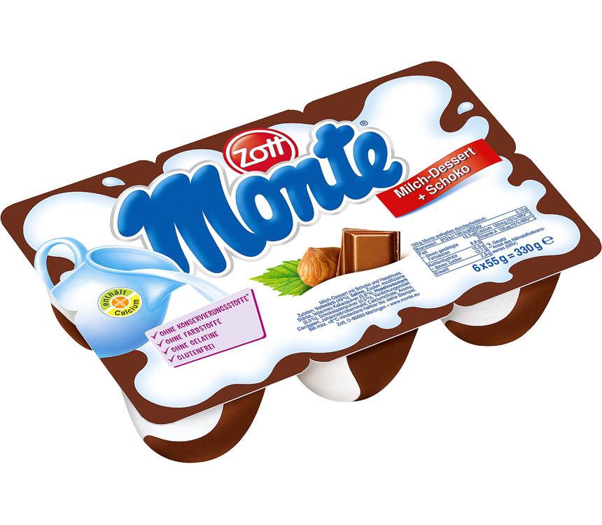 Abbildung des Angebots Zott Monte Kinder-Milchdessert